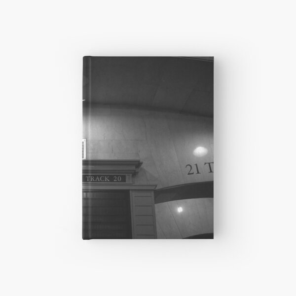 Track 21. Grand Central Station, Manhattan. Photograph in Black and White. Hardcover Journal