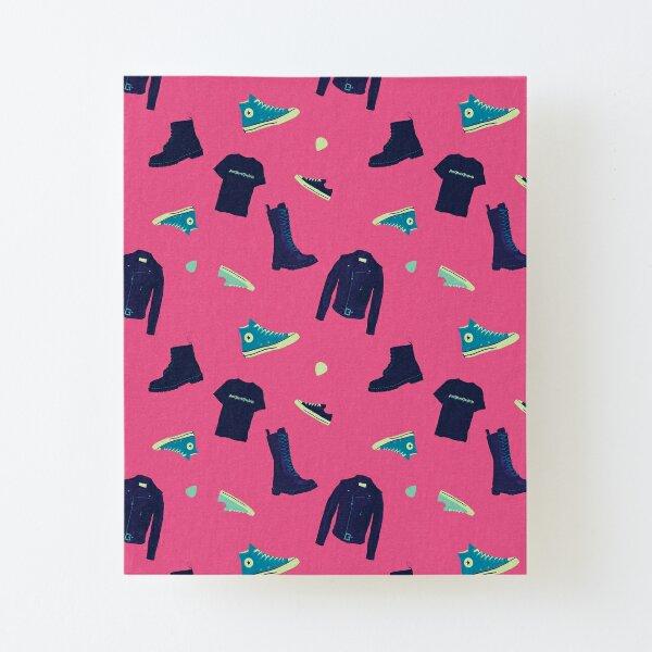 Pepto Pink Punk Rock Canvas Mounted Print