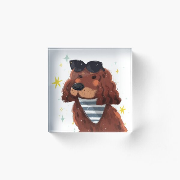 Chill Summer Dog Acrylic Block