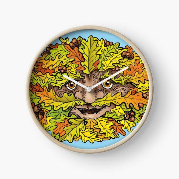 Autumnal Green Man Clock
