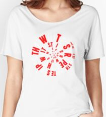 White Stripes Whirlpool Women's Relaxed Fit T-Shirt