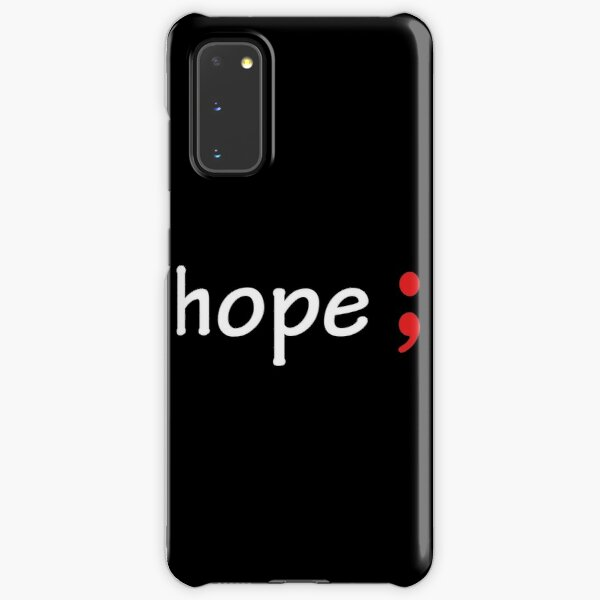 Semicolon; Hope Samsung Galaxy Snap Case