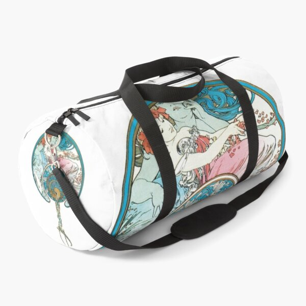 Alphonse Mucha - The passing wind carries away youth - print / 1899 Duffle Bag