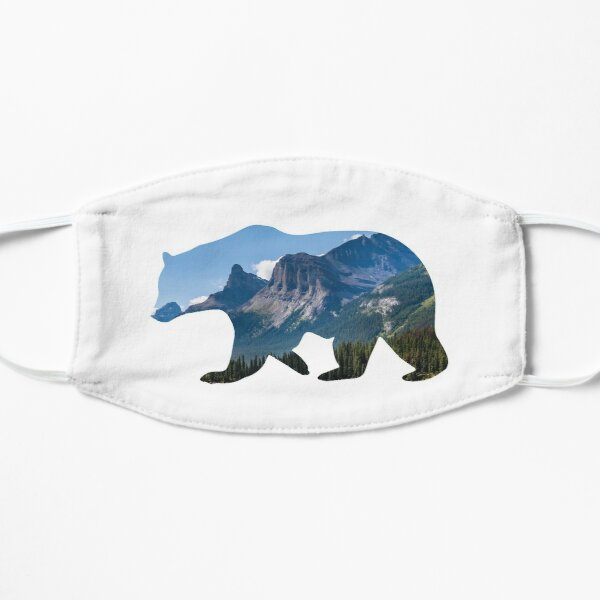 Bear Silhouette with Canada Landscape Flat Mask