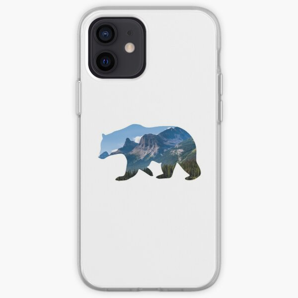 Bear Silhouette with Canada Landscape iPhone Soft Case