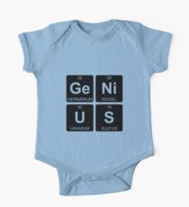 Ge Ni U S - Genius - Periodic Table - Chemistry One Piece - Short Sleeve
