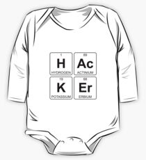 H Ac K Er - Hacker - Periodic Table - Chemistry One Piece - Long Sleeve