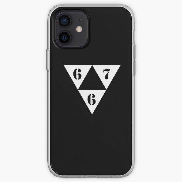 667 LOGO BLANC ⁶₆⁷ Coque souple iPhone