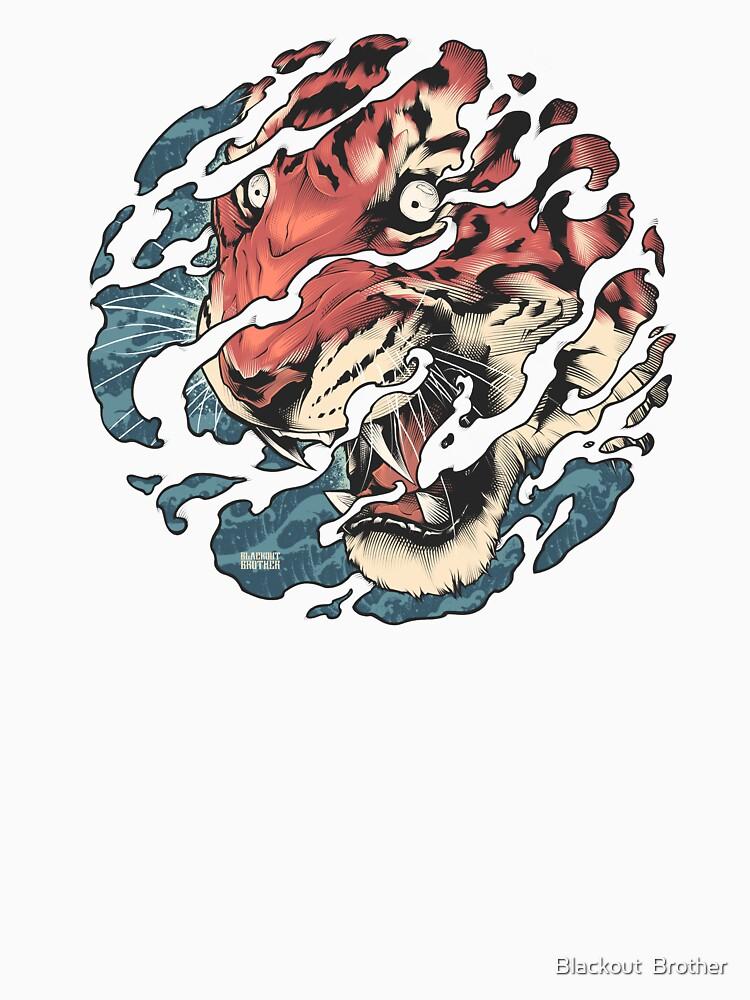 Tora - Japanese tiger tattoo art by BlackoutStore