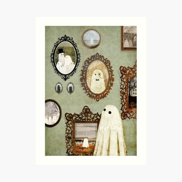 There's A Ghost in the Portrait Gallery Art Print