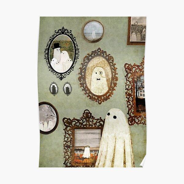 Hay un fantasma en la galería de retratos Póster