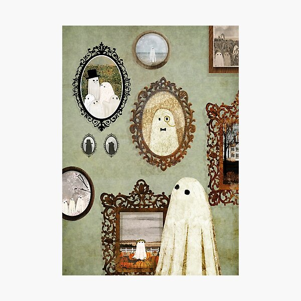 There's A Ghost in the Portrait Gallery Photographic Print