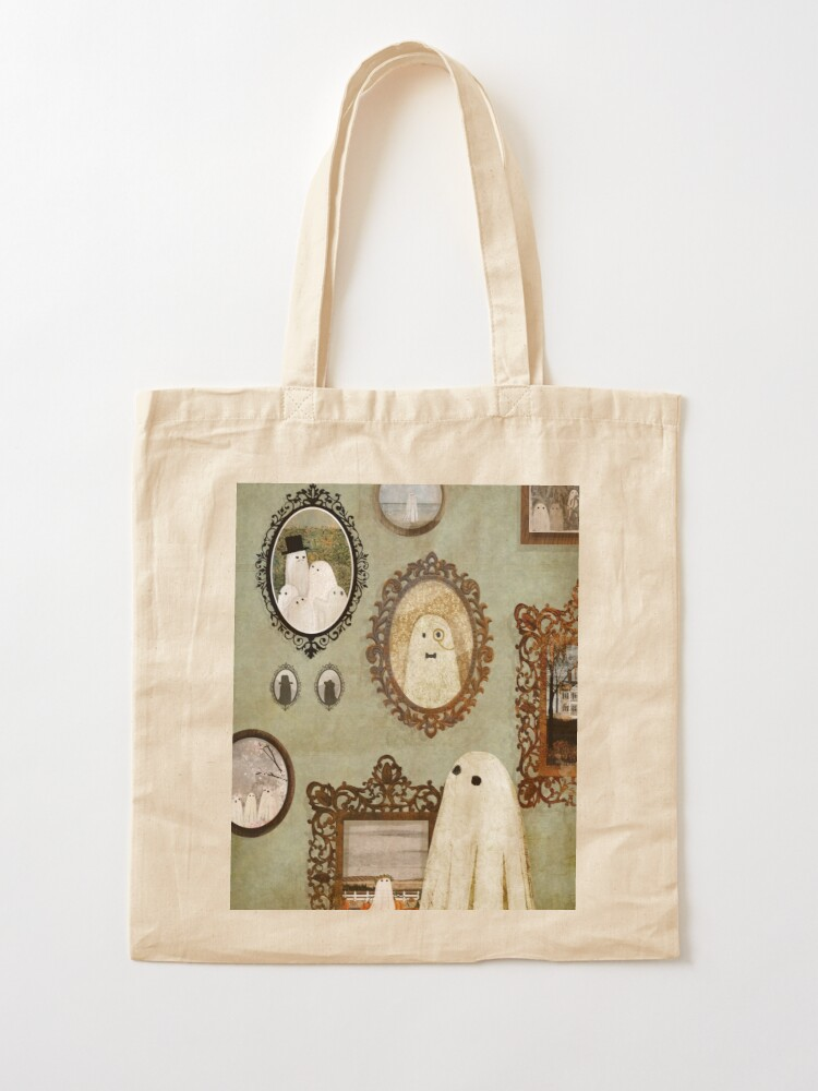 Alternate view of There's A Ghost in the Portrait Gallery Tote Bag