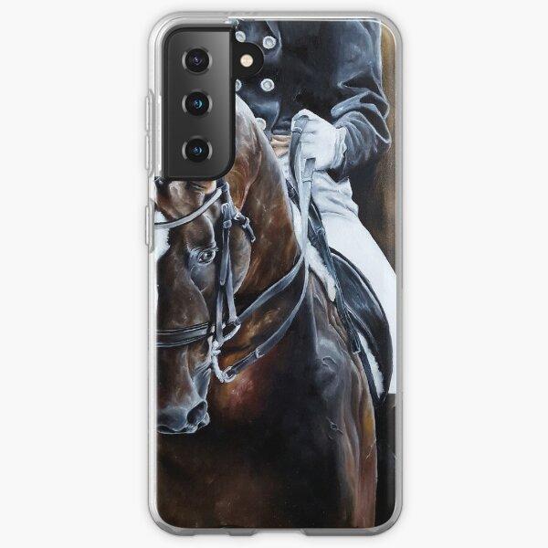 Dressage Horse on Gold Samsung Galaxy Soft Case