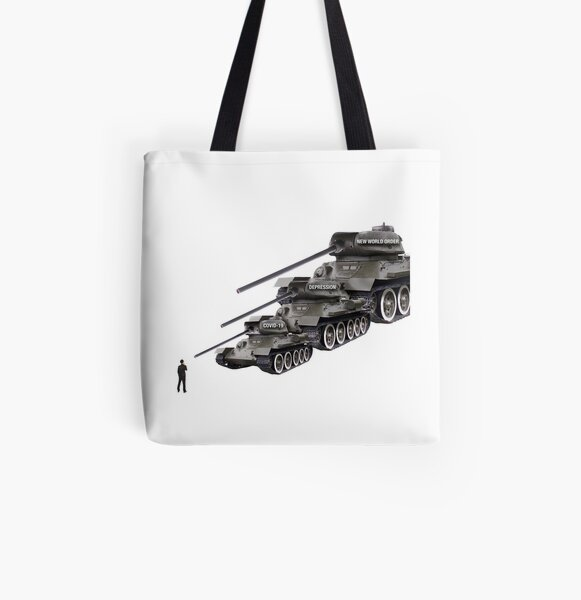 Tank Man 2.0 All Over Print Tote Bag