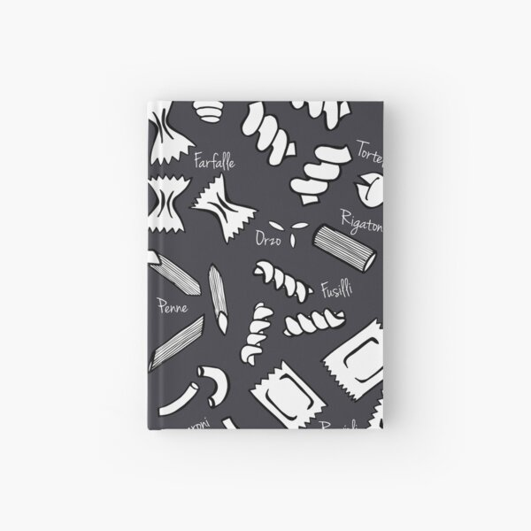 Pasta Chalkboard Print Hardcover Journal