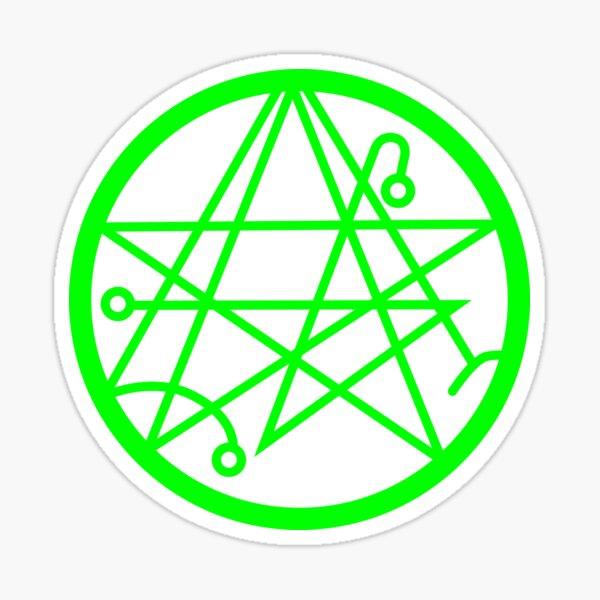 Cthulhu - Sigil of the Gateway Slime Green Sticker
