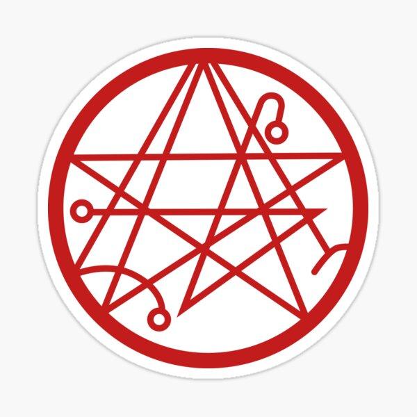 Cthulhu - Sigil of the Gateway Blood Red Sticker