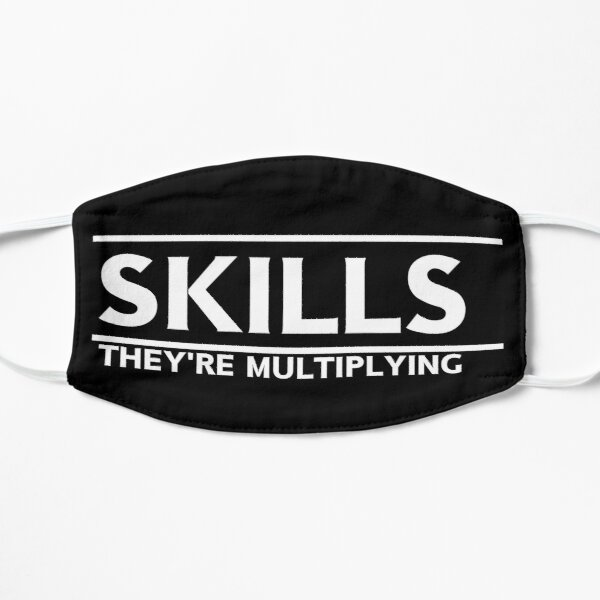 Skills They're Multiplying Flat Mask
