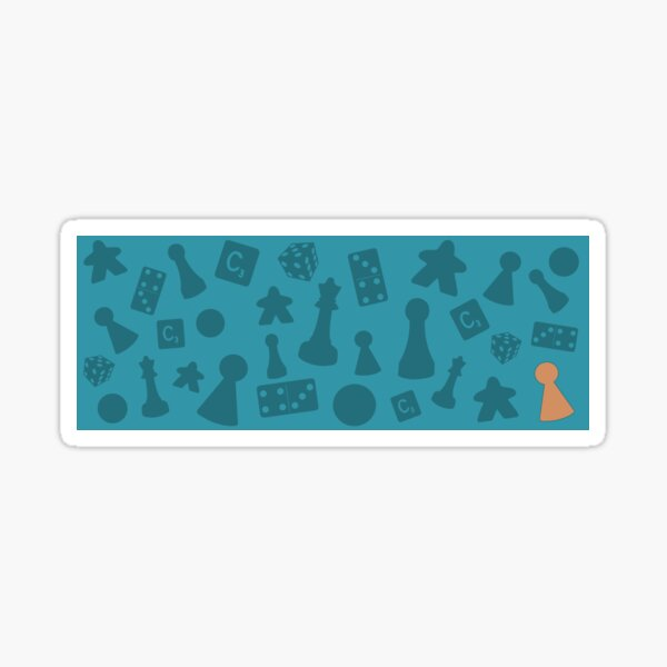 Board Game Counters Pattern Sticker