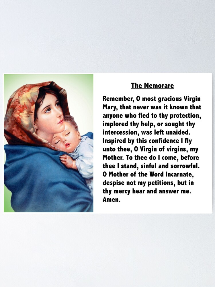 Alternate view of The Memorare Poster