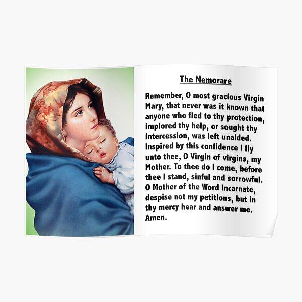 The Memorare Poster