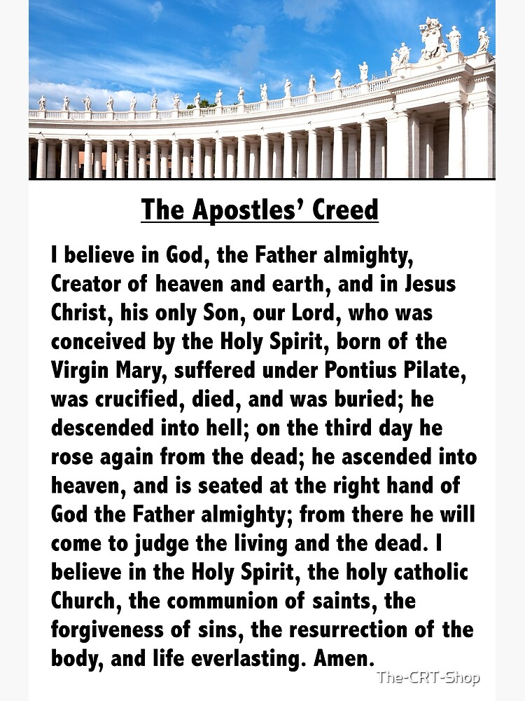 The Apostles' Creed by The-CRT-Shop