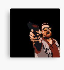 John Goodman 8-bit Canvas Print