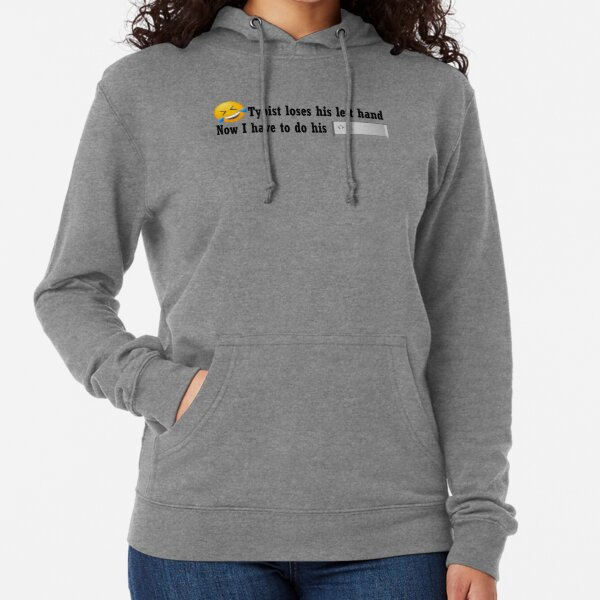 Typist can't do his shift Lightweight Hoodie