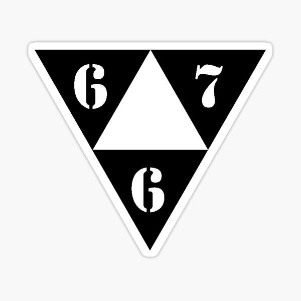 667 LOGO NOIR ⁶₆⁷ Sticker