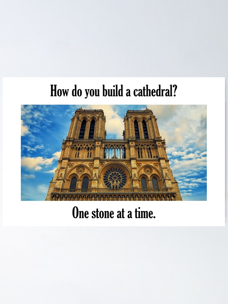 Alternate view of How Do You Build a Cathedral? - 2 Poster