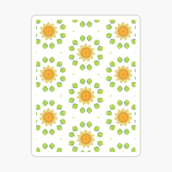 Yellow Flowers repeating design Sticker