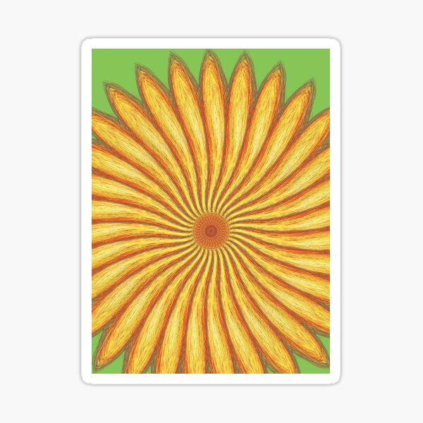 Sunflower design by Autistic Artist Sticker