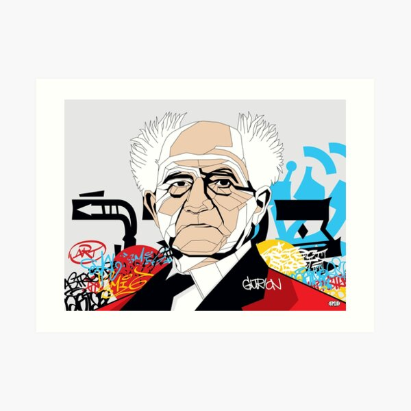 David Ben-Gurion - Pop Art Israeli leader Art Print