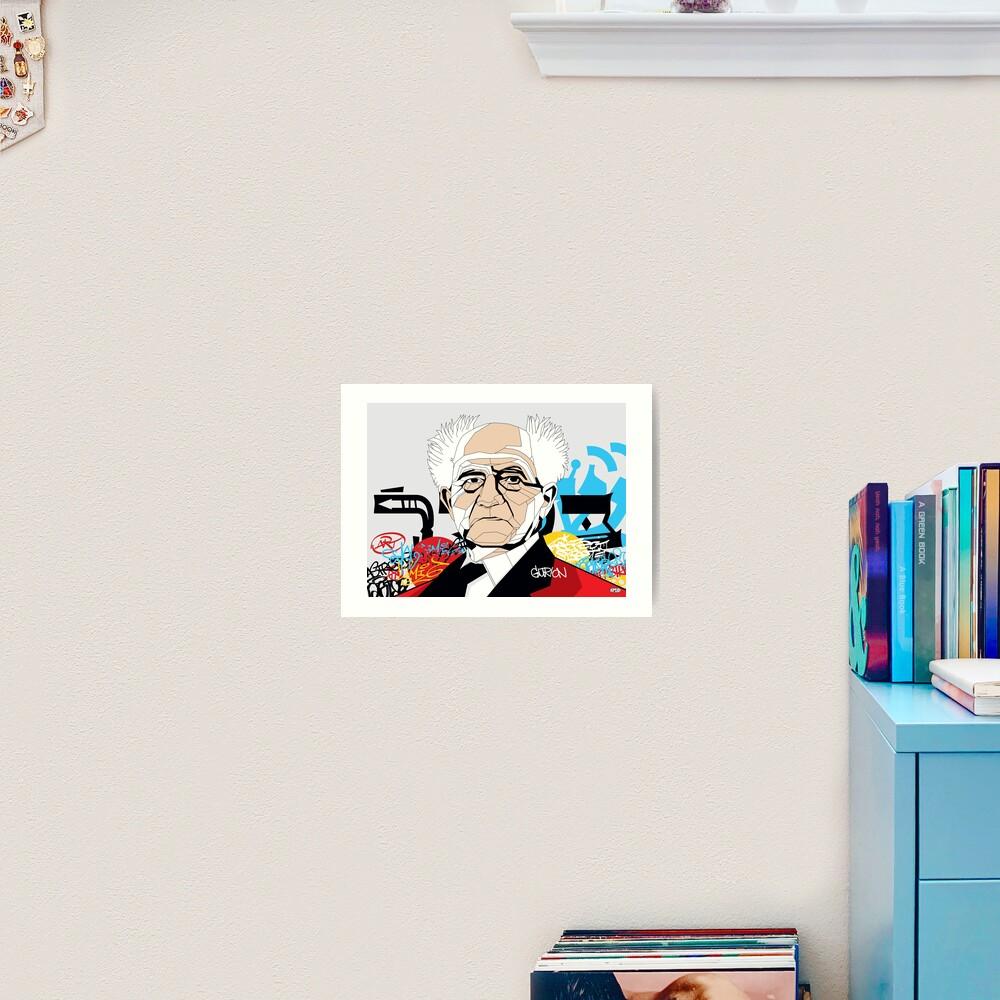 David Ben-Gurion portrait - Pop Art Israeli leader Art Print