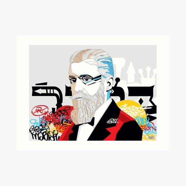 Theodor Herzl - Pop Art Israeli leader gift Art Print
