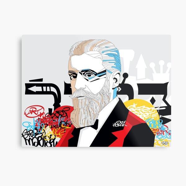 Theodor Herzl - Pop Art Israeli leader gift Metal Print