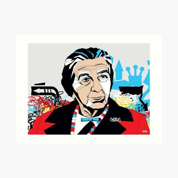 Golda Meir - Pop Art Israeli leader gift Art Print