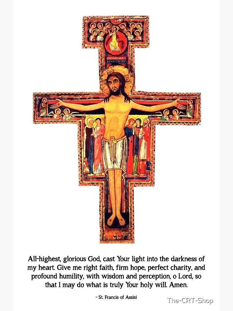 San Damiano Cross with St. Francis Prayer - 2 by The-CRT-Shop