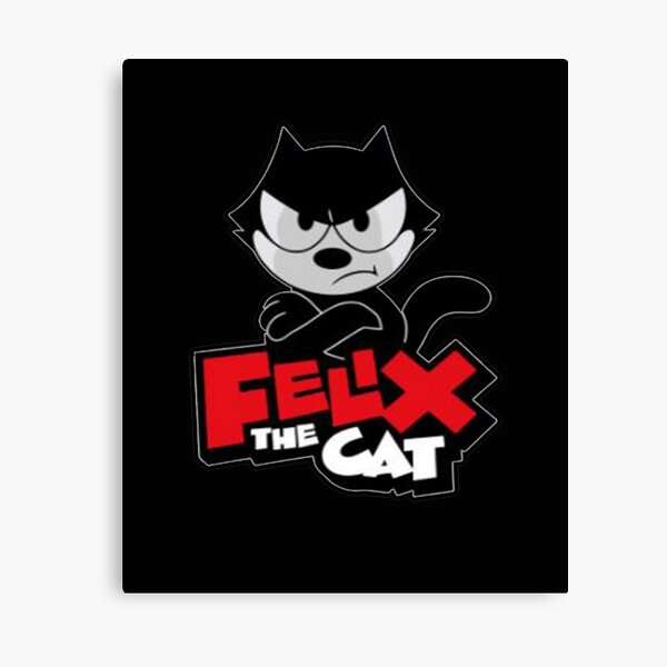 angry Felix the cat Canvas Print