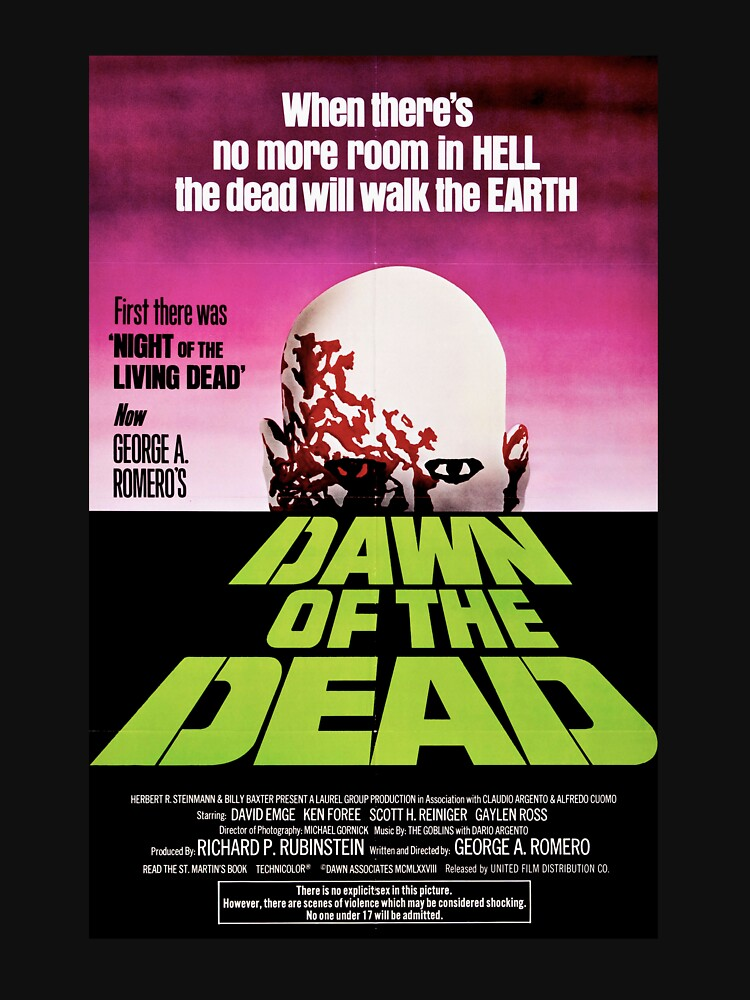 Dawn of the Dead (1978) George A. Romero  by horrorfreakshop