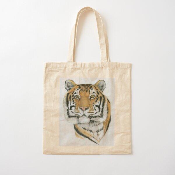 Siberian Tiger Cotton Tote Bag