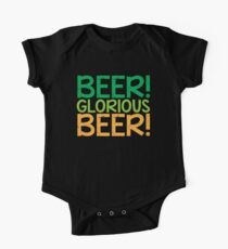 BEER GLORIOUS BEER! One Piece - Short Sleeve
