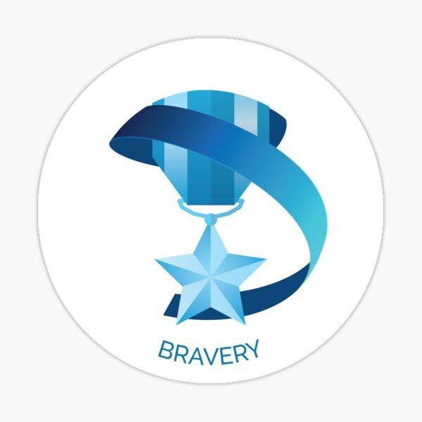 Bravery VIA Character Strength Art Print Sticker
