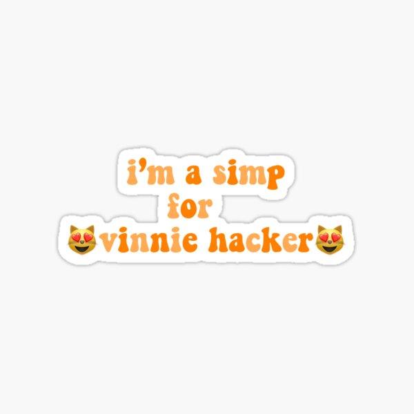 Ich bin ein Simp für Vinnie-Hacker Sticker