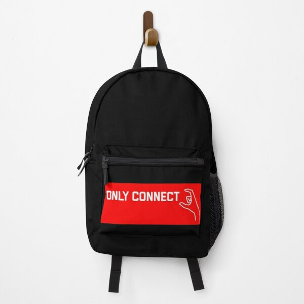 only connect t-shirt red design Backpack