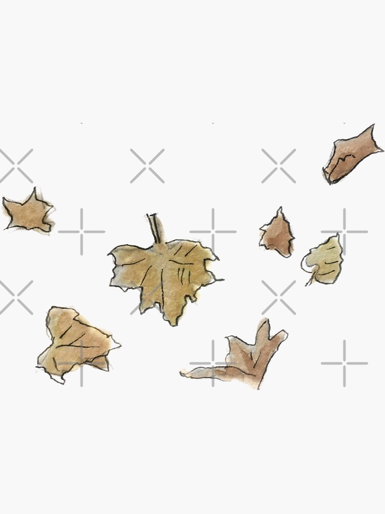 Fall Leaves Illustration in Watercolor by WitchofWhimsy