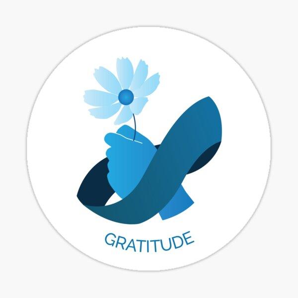Gratitude VIA Character Strength Sticker