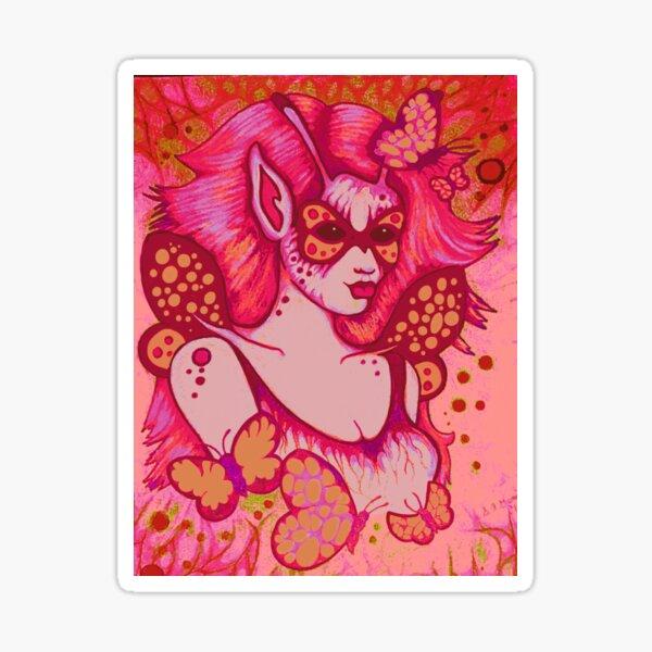 Magenta Masked Sticker