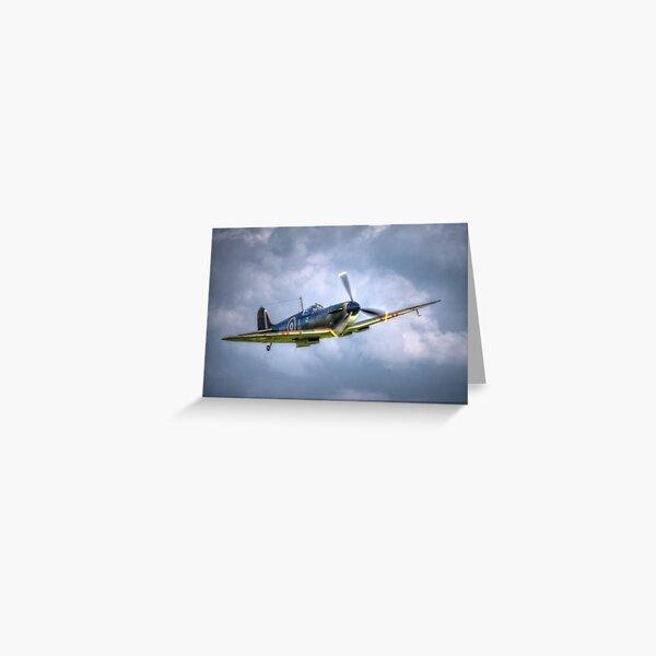 Supermarine Spitfire Mk Ia P7308 Greeting Card